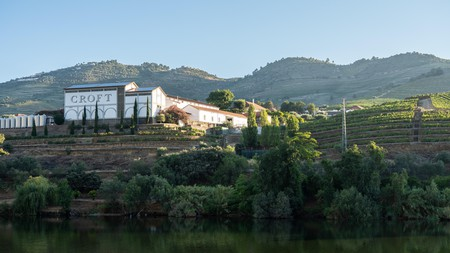 Croft winery building on the banks of the River Douro in Portugal near Pinhao