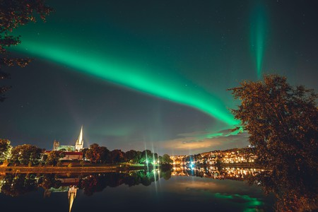 There are several great places in and around Trondheim in which to see the Northern Lights