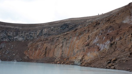Víti Crater is situated in Iceland's Central Highlands
