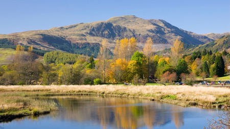 Loch Lomond and the Trossachs National Park is only an hour's drive from the capital