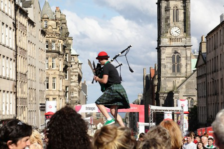Kilted Colin is usually a familiar site on the Royal Mile during the Edinburgh Festival Fringe
