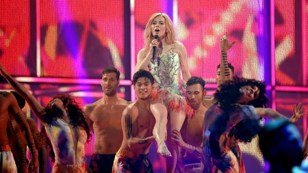 Emmelie de Forest performs during the 59th Eurovision Song Contest