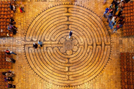 The labyrinth symbolizes the path from Earth towards God