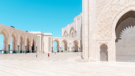 The huge Hassan II Mosque, the second largest in Africa, is a must-see on a visit to Casablanca