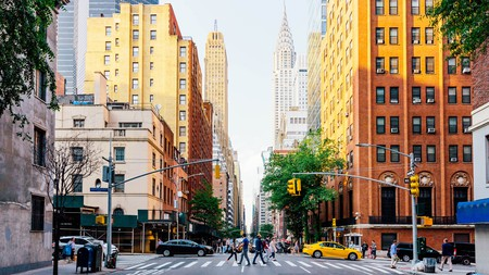 Lexington Avenue and The Chrysler Building in New York City
