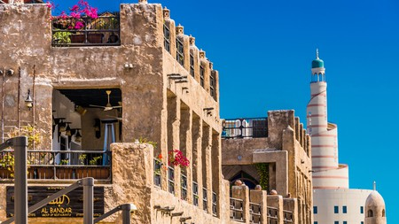 Journey to Souq Waqif to get a feel for traditional Qatari architecture
