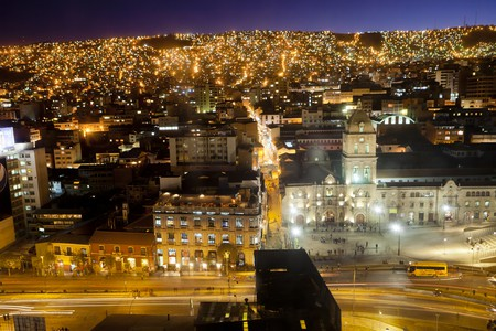 La Paz is a buzzing city at night, with lots of excellent restaurant options