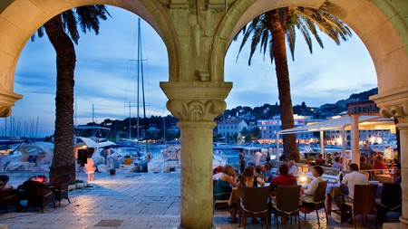 Hvar City provides stunning views, outdoor weather and a party atmosphere when the sun goes down