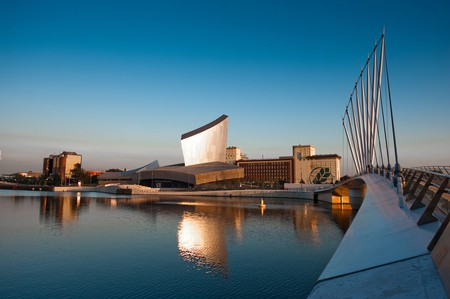 Imperial War Museum North, designed by Daniel Libeskind