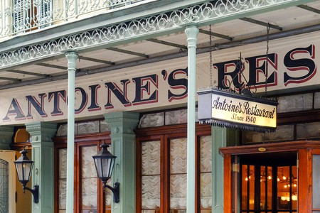 United States, Louisiana, New Orleans. Antoine's Restaurant in the French Quarter, world-renowned for French-Creole cuisine.
