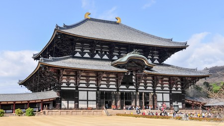 The Todai-ji Temple is one of many magnificent temples and shrines in Nara
