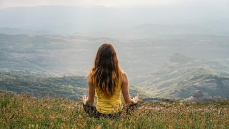 Woman practising yoga