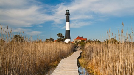 The best excursions from New York City include Fire Island, where you'll find the striking Fire Island Lighthouse