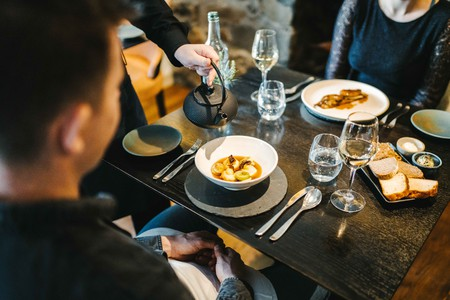 Dishes at The Three Chimneys are influenced by the restaurant's unique location