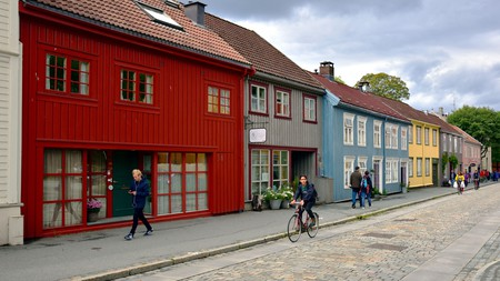 With quiet streets and bicycle lanes everywhere, Trondheim has been called the most cyclist-friendly city in Norway