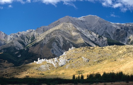 Spectacular scenery in Arthur s Pass ,Canterbury ,South Island ,NEW ZEALAND. Image shot 2006. Exact date unknown.