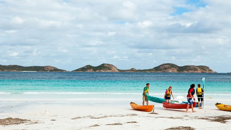 Lucky Bay in Cape Le Grand National Park is perfect for campers who seek many outdoor adventures
