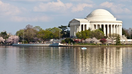 The Tidal Basin Loop will take you past the Jefferson Memorial