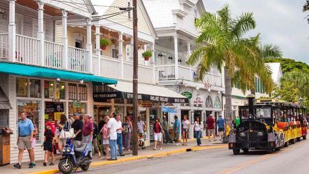 Duval Street in Key West is home to shops, bars, restaurants, art galleries and more