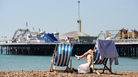 Brighton beach –the easing of lockdown means you can travel further afield within England