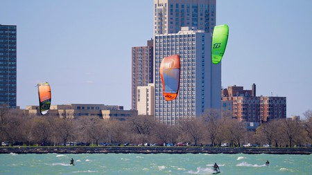 Get active outdoors at spots like Montrose Beach in Chicago