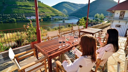 You can enjoy fabulous views across the Douro river, as well as its excellent wine