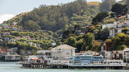 Sausalito is located just north of San Francisco across the Golden Gate Bridge
