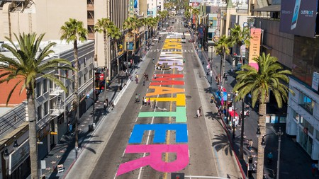 Los Angeles is just one American city to have created a beautiful mural, where a solidarity march between the LGBTQ and Black Lives Matter communities later took place