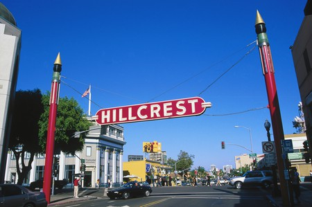 Hillcrest is one of San Diego's many hipster neighborhoods, and the site of the city's annual Pride parade