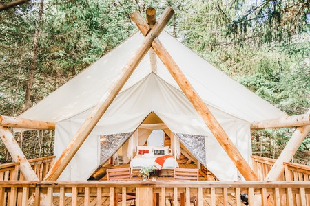 Glamping is a great option for those who love the great outdoors, but hate the fuss of setting up a tent