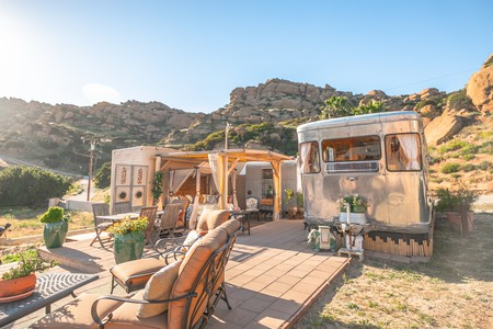 Hole up in a vintage trailer with views of the San Fernando Valley