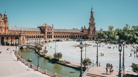 Plaza de España in Seville was built for the 1929 Ibero-American Exposition