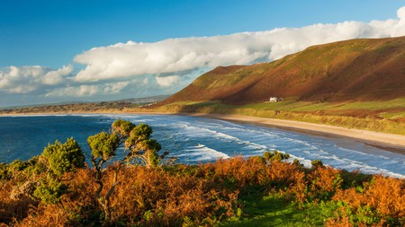Rhossili Bay was voted the third-best beach in Europe