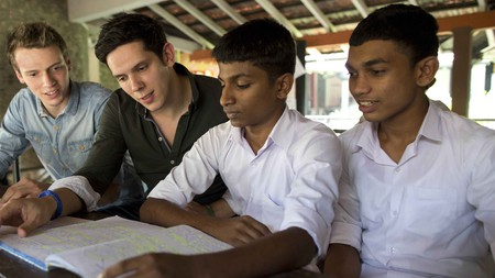 SOS children's village in Piliyandala in Sri Lanka is just one of the places in which Rob and Paul Forkan work with underprivileged children