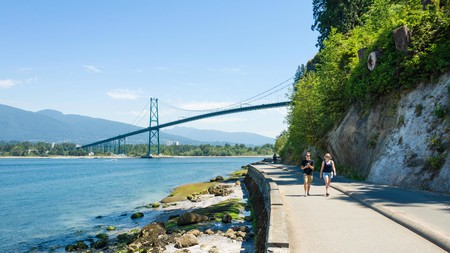 A walk along the Vancouver Seawall is one of the top outdoor activities in Vancouver