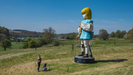 Yorkshire Sculpture Park is home to Damien Hirst's 'Charity'