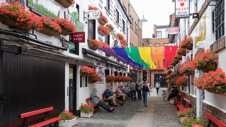 Commercial Court in Belfast's Cathedral Quarter is a centre of LGBTQ life in the city