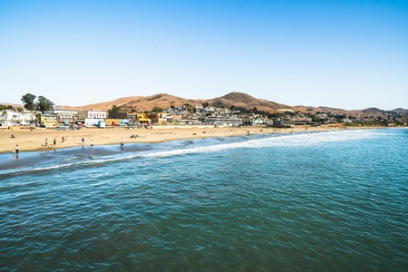 Cayucos State Beach is the perfect spot for swimming and surfing