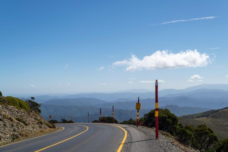 Australian Alps and Alpine National Park from the Great Alpine Road
