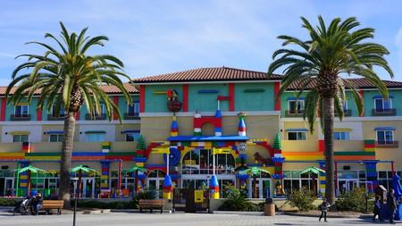 The colorful entrance of Legoland, California