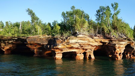 The Apostle Islands are located in Lake Superior and offer many outdoor adventures