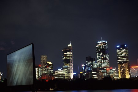 The WestPac OpenAir Cinema with the Sydney skyline as the backdrop