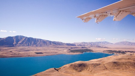 An air safari is the perfect way to see the region's 150 peaks higher than 2,300 metres