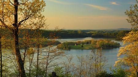 Sunrise Trooper Island in Dale Hollow Lake State Resort Park Burkesville Kentucky
