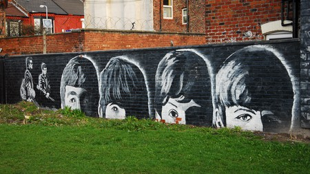 Street art depicting the Beatles is unsurprisingly common in Liverpool