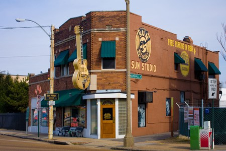 Legendary Sun Studio in Memphis, Tennessee, ground zero rock music 1950's