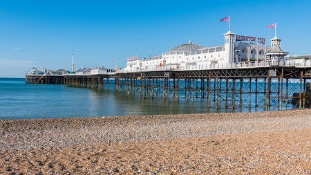 Brighton Pier is particularly lovely first thing in the morning before people arrive