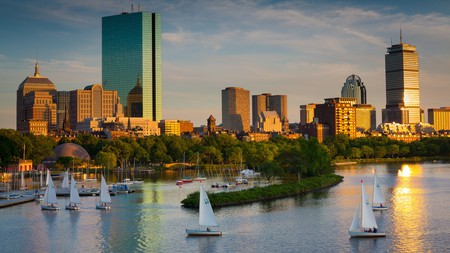 The skyline view from Longfellow Bridge is one of the best in Boston