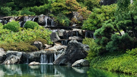 Look out for the waterfalls at the Japanese Garden within the Montreal Botanical Garden