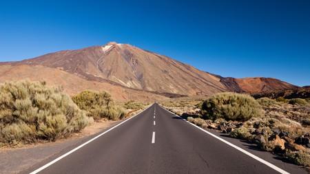 Road TF 21 to Teide Volcano, Tenerife, Canary Islands, Spain